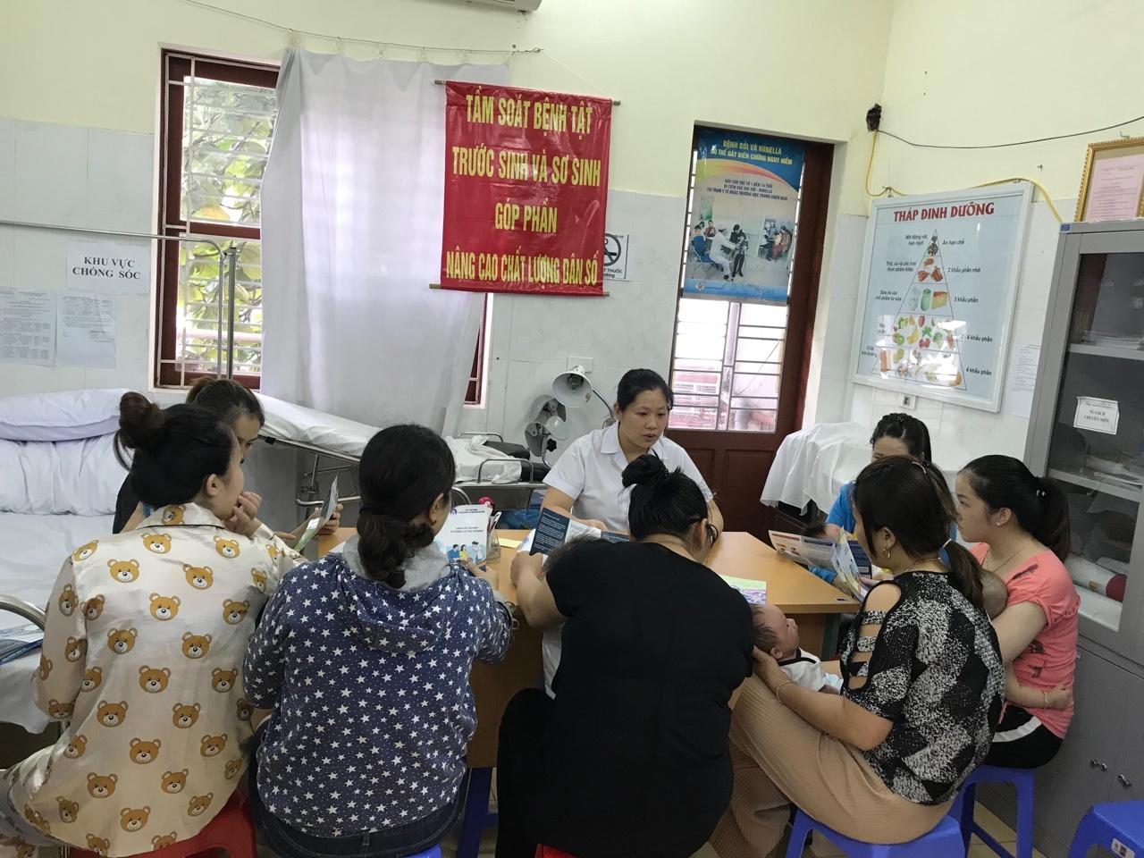 TTYT huyện tăng cường thực hiện tổ chức sàng lọc trước sinh, sơ sinh giúp nâng cao chất lượng dân số
